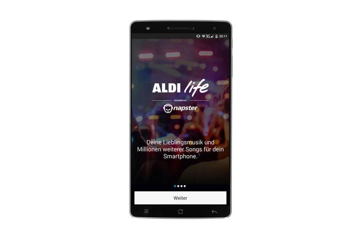 ALDI bietet neuen Musik-Streaming-Dienst an