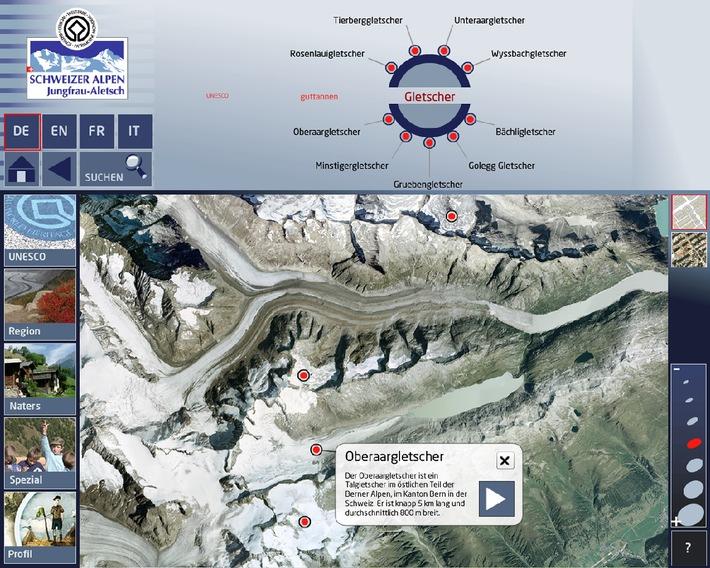 UNESCO - Neues Informationssystem in den Schweizer Alpen