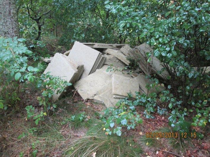 POL-SE: Holm: Wer kann Hinweise zu einer großen Menge illegal abgelegter Mineralwollplatten machen?