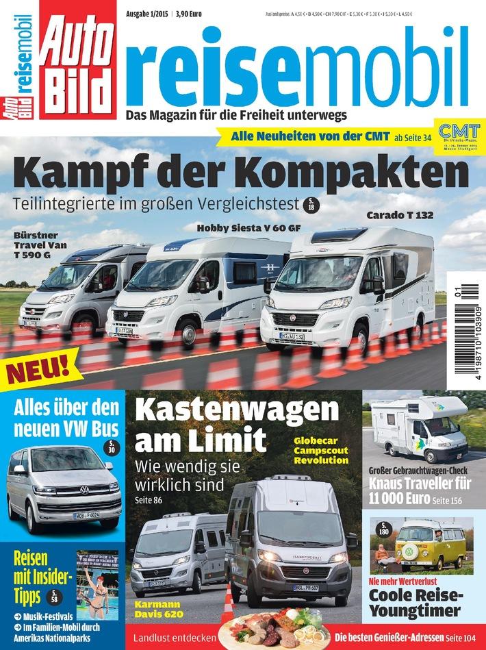 Das Magazin für die Freiheit unterwegs - Die neue AUTO BILD REISEMOBIL ist da
