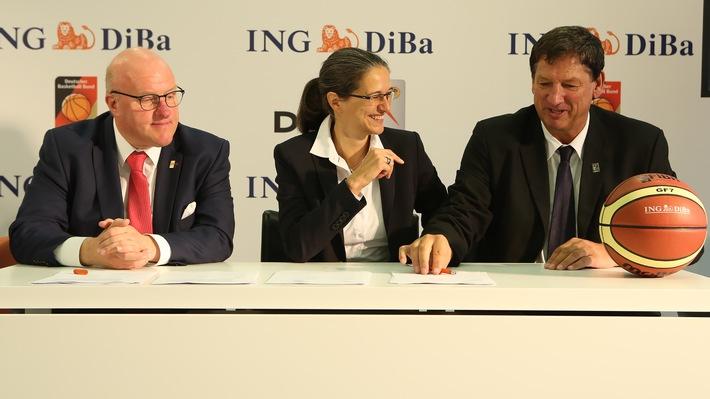 ING-DiBa führt Basketball-Engagement langfristig fort Sponsoring-Verträge mit DBB und DRS bis 2020 verlängert