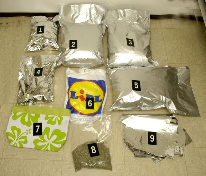 POL-REK: Mit 10 Kilogramm Marihuana erwischt - Frechen