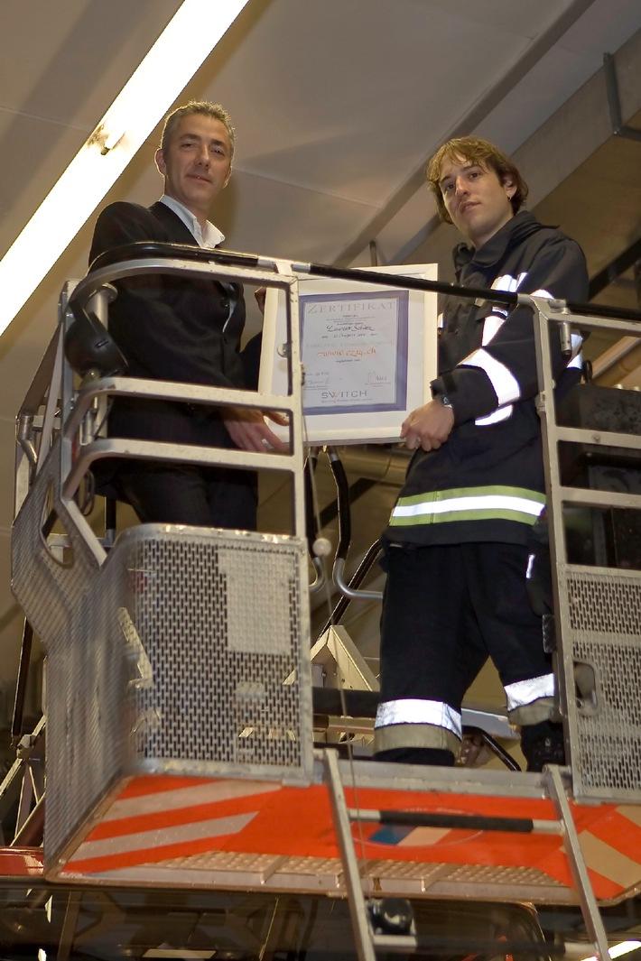SWITCH gratuliert der Feuerwehr Luzern