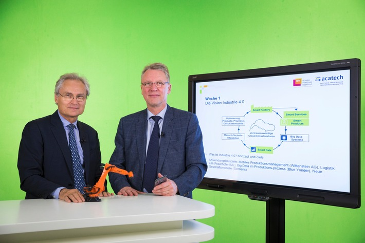 Industrie 4.0: HPI und acatech starten neuen Online-Kurs für Unternehmen