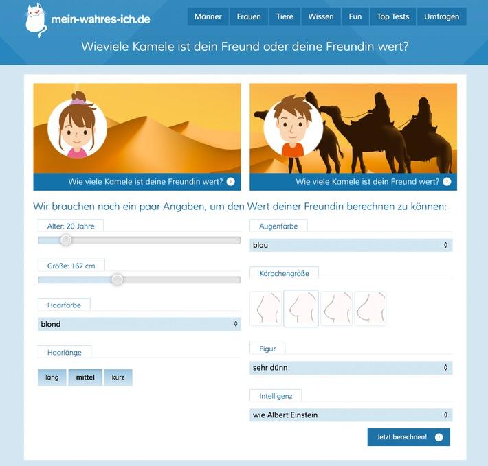 Neuer Internethype: Berechne den Wert deiner Freundin mit dem Kamelrechner