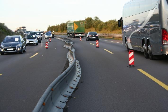 POL-PDKL: Verschobene Miniguards im Baustellenbereich A 6 bei Kaiserslautern