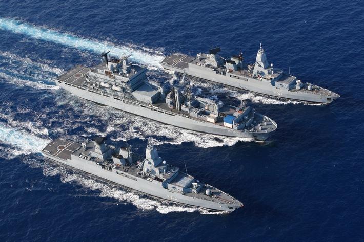 """Deutsche Marine: Die """"Berlin"""" ist wieder in der Heimat"""
