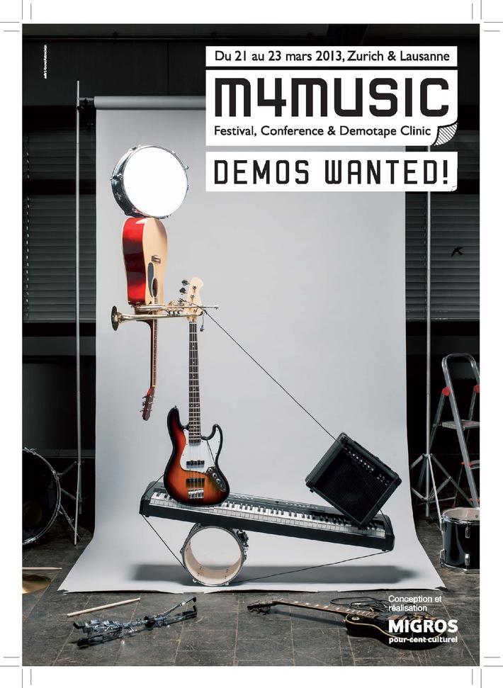Percento culturale Migros: bando per la Demotape Clinic 2013 / m4music cerca i migliori demo della Svizzera
