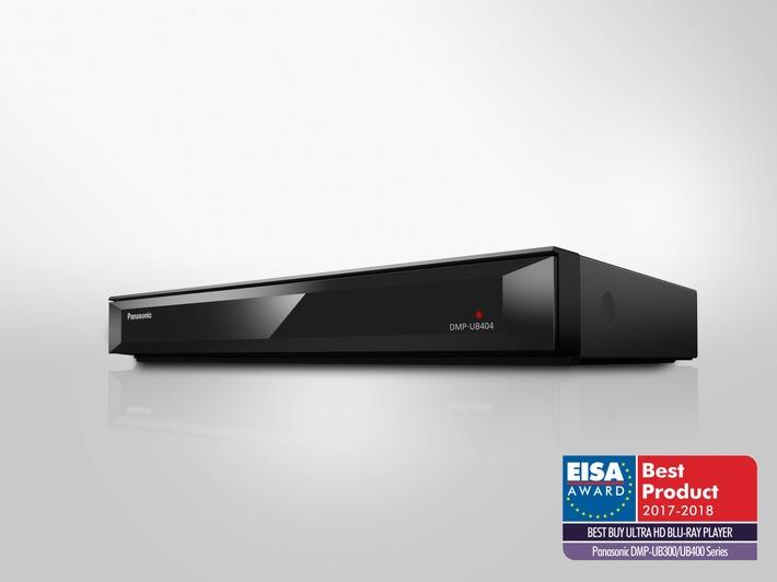 Panasonic UHD Blu-ray Player überzeugt EISA-Jury / Renommierter EISA Award für den Ultra HD Premium-zertifizierten Blu-ray Player DMP-UB404