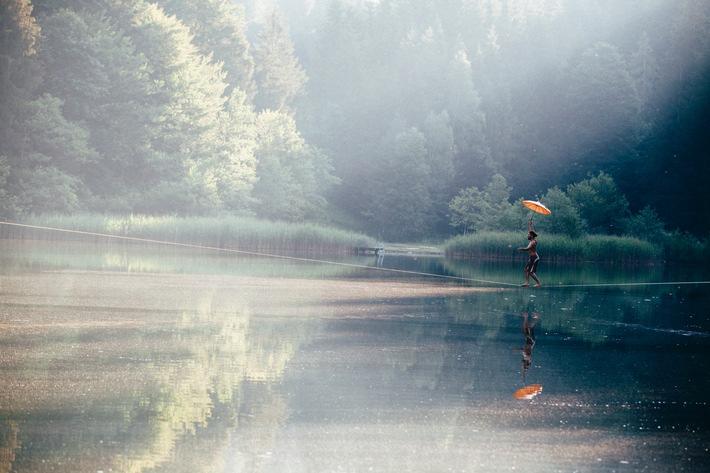 Wasserfest am Berglsteinersee - alles eine Frage der Balance