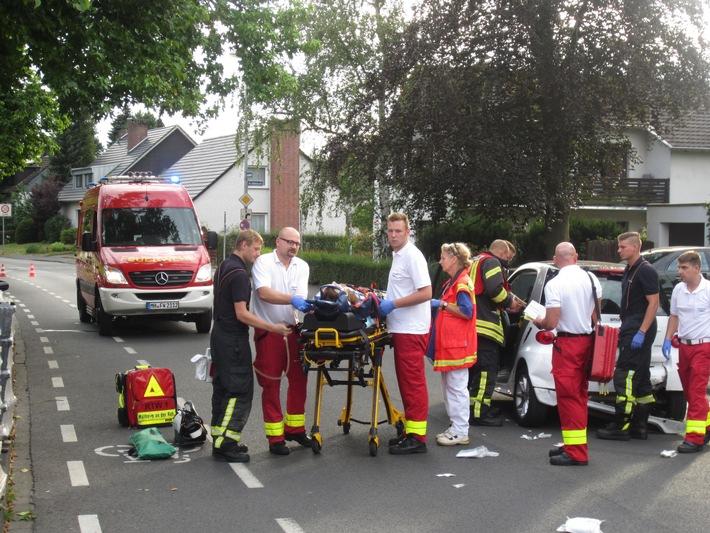 FW-MH: Verkehrsunfall mit mehreren Verletzten