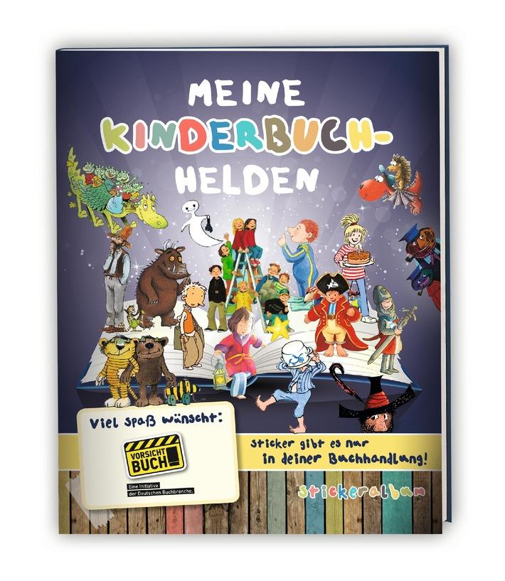 """Vorsicht Buch!: Erfolgreicher Start für das Stickeralbum """"Meine Kinderbuchhelden"""" / Hohe Nachbestellungszahlen / """"Meine Kinderbuchhelden"""" auf der Buchmesse"""
