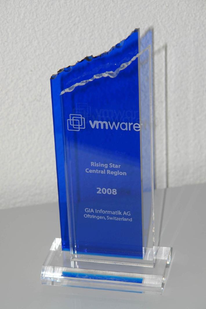 """VMware überreicht den """"Rising Star AWARD"""" an GIA Informatik AG"""