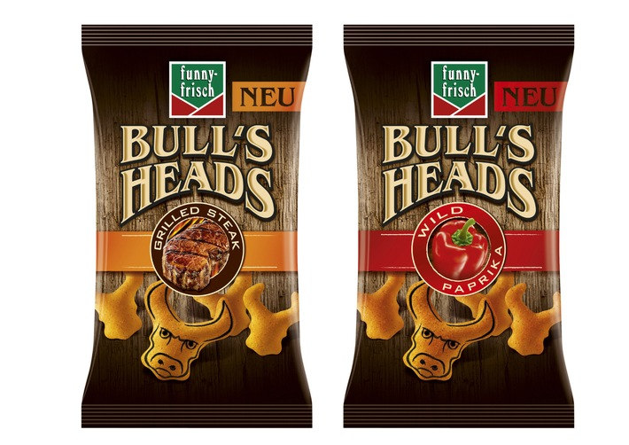 Die Bullen sind los / Jetzt doppelt knackig: die funny-frisch Bull's Heads