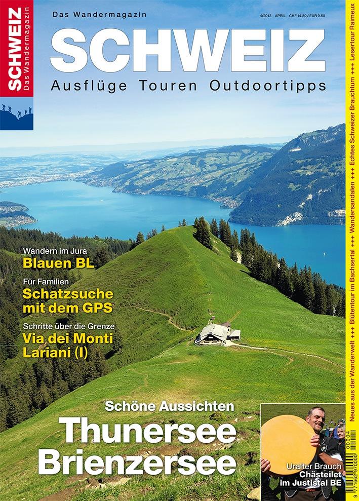 Wandermagazin SCHWEIZ im April_2013: Thunersee - Brienzersee