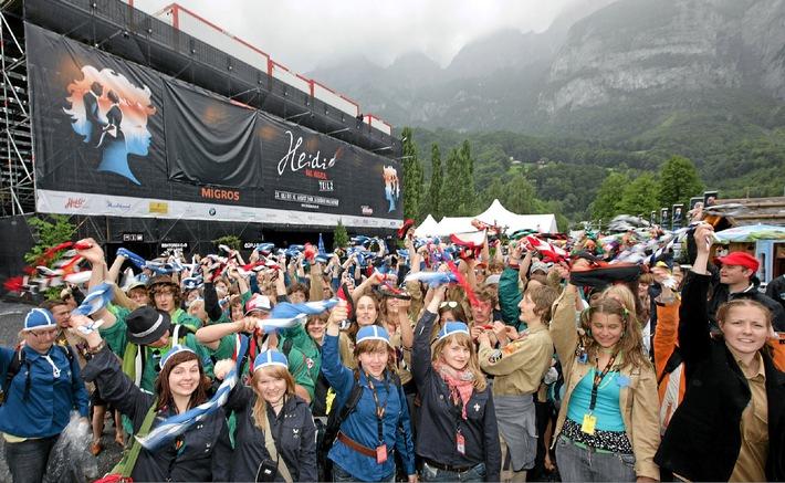 """""""Heidi - Das Musical"""": 200 Pfadfinder am Heidimusical in Walenstadt"""