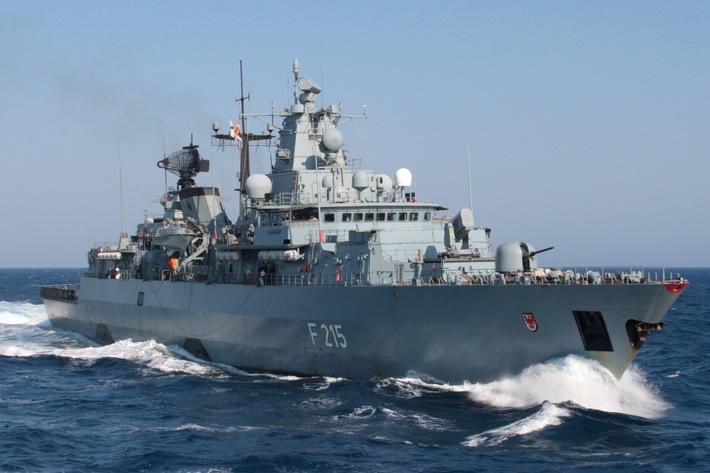 """Fregatte """"Brandenburg"""" wird Flaggschiff in der Ägäis"""