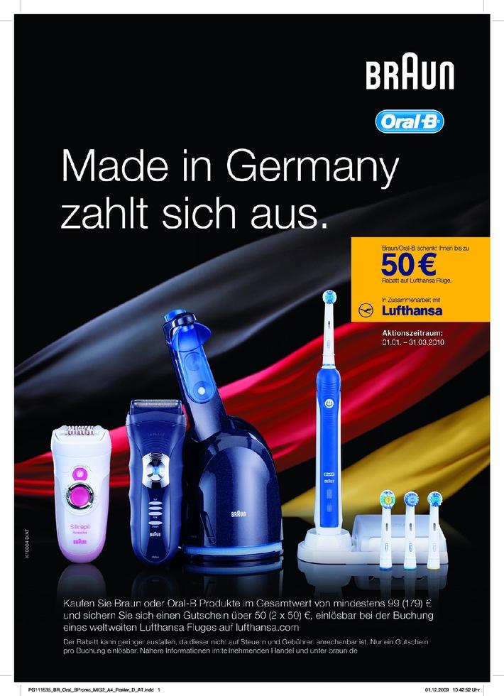 Weltweit gepflegt abheben (mit Bild) / Einmalige Gelegenheit: Braun- oder Oral-B-Produkte kaufen und weltweit vergünstigt mit Lufthansa fliegen