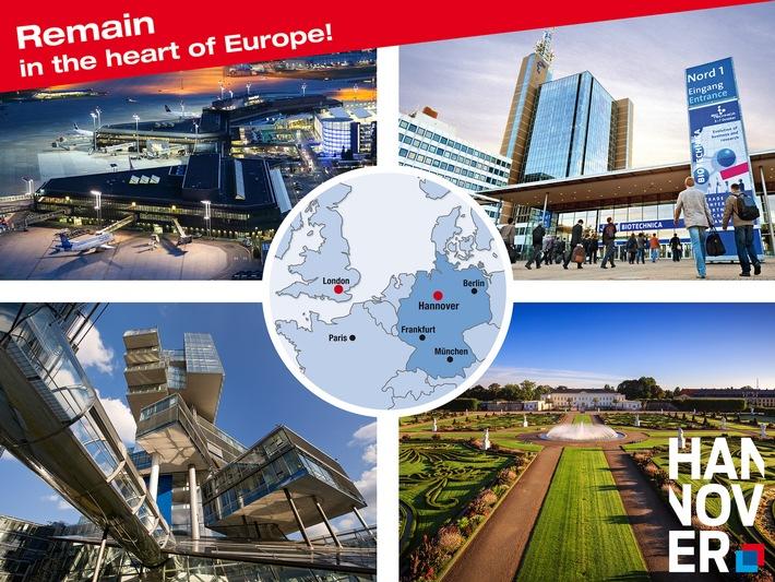 """Remain in the centre of Europe - select Hannover"": Hannover Marketing und Tourismus GmbH mit Standortoffensive in Großbritannien"