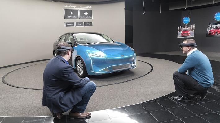 Hologramme beim Fahrzeug-Design: Ford testet HoloLens-Technologie von Microsoft