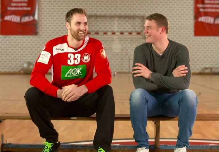 """Manuel Neuer zollt den Europameistern Respekt: """"Handball ist der härtere Sport"""""""
