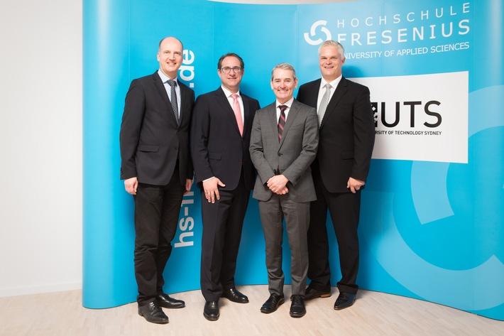 Hochschule Fresenius besiegelt neue Kooperation mit University of Technology Sydney