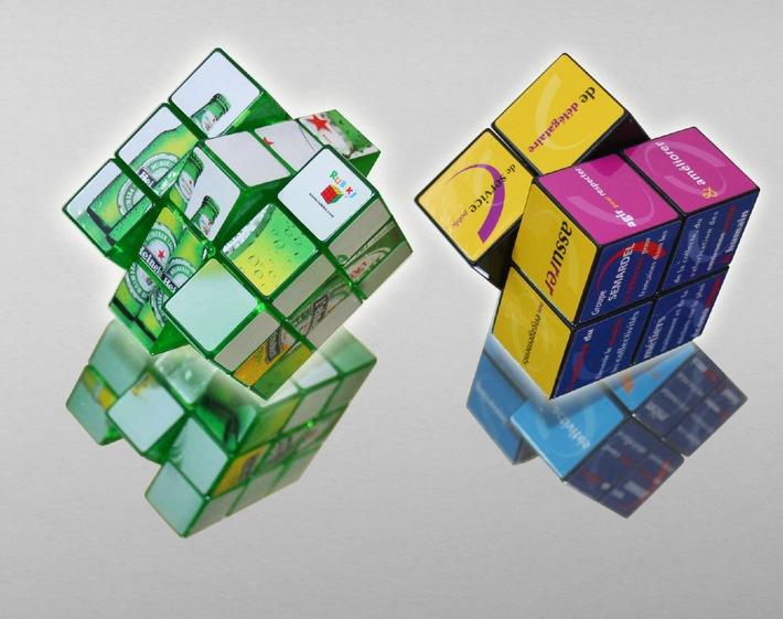 Polypins lanciert Rubik's Cubes mit integrierbarer Werbebotschaft
