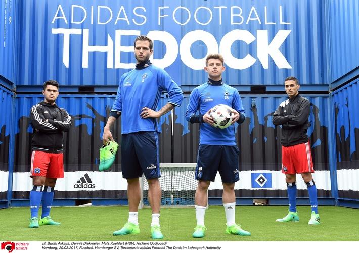 HSV-Presseservice: Straßenfußball zwischen Seecontainern: adidas und HSV präsentieren