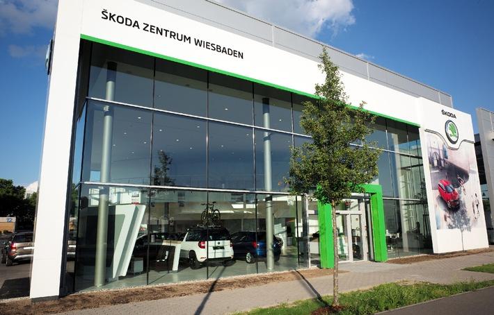 Skoda zentrum wiesbaden er ffnet im neuen corporate design for Corporate design wiesbaden