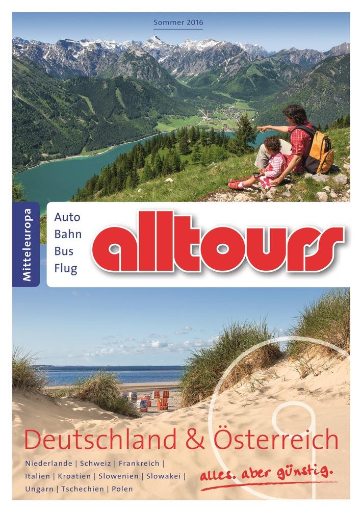 alltours verdoppelt Eigenanreiseangebot und bietet 18 neue Ferienregionen im Sommer 2016 an / Neue Familienprodukte und mehr Kooperationen mit namhaften Hotelketten