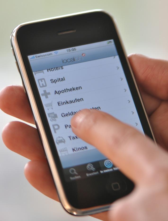 local.ch: L'elenco telefonico per iPhone 4