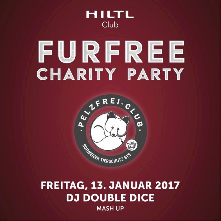 Furfree Charity Party / Im Hiltl Club - dem ersten Pelzfrei-Club der Schweiz - wird in Kooperation mit dem Schweizer Tierschutz STS am Freitag, 13. Januar, pelzfrei gefeiert
