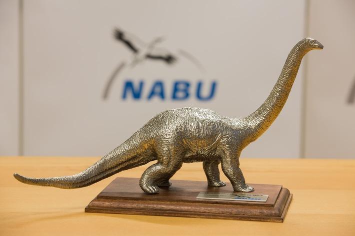 """NABU:Philipp zu Guttenberg erhält """"Dinosaurier des Jahres 2015""""/ Negativ-Preis geht an Chef-Lobbyisten der Waldeigentümer"""