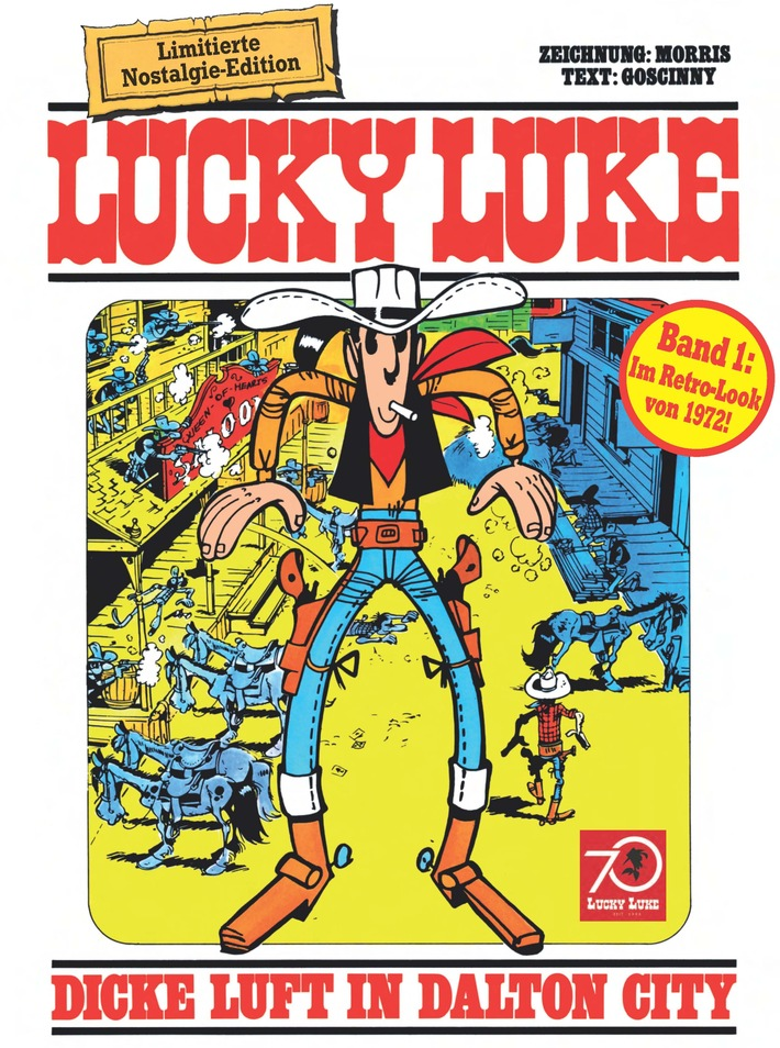 70 Jahre Lucky Luke - Die Nostalgie-Edition Lucky Luke 1-14 ab dem 10. November im Handel