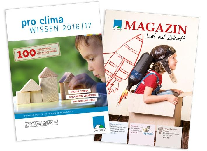 DACH+HOLZ 2016: Neuheiten für die sichere Dichtung der Gebäudehülle und druckfrisches Planungs- und Sanierungshandbuch WISSEN 2016/17 / pro clima in Halle 3, Stand 3.200