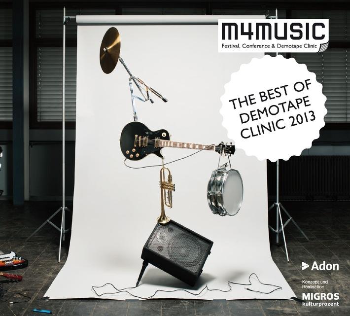 Migros-Kulturprozent präsentiert die Compilation «The Best of Demotape Clinic 2013» / m4music: die besten Schweizer Popmusik-Demos 2013