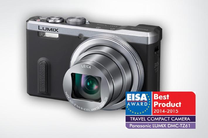 EISA Award: LUMIX TZ61 ist Europas beste Reise-Kompaktkamera des Jahres 2014/2015