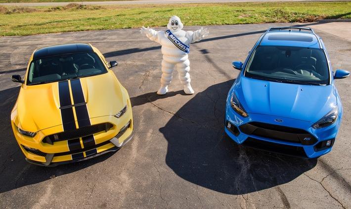 Kooperation zwischen Ford und Michelin - Ziel ist die optimale Bereifung von Ford Performance-Fahrzeugen