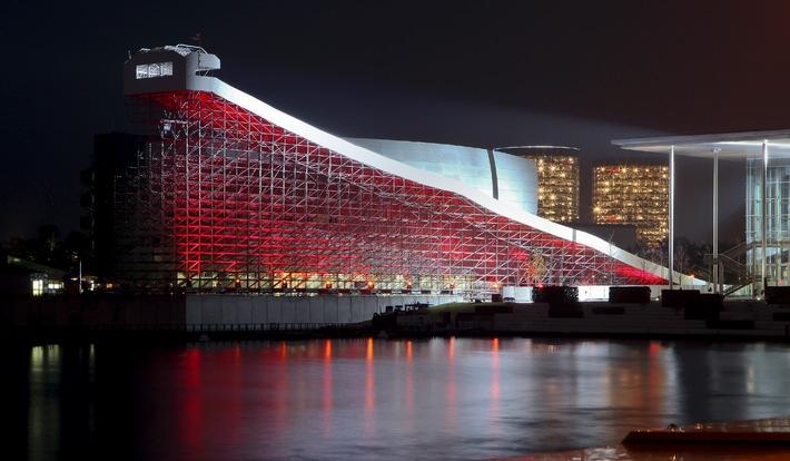 Weltweit größte, mobile für das Publikum zugängliche Rodelbahn eröffnet heute in der Autostadt in Wolfsburg (mit Bild)