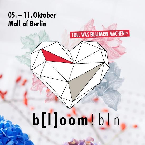 save the date - flower installation »b[l]oom!bln« / einladung zur, Einladung