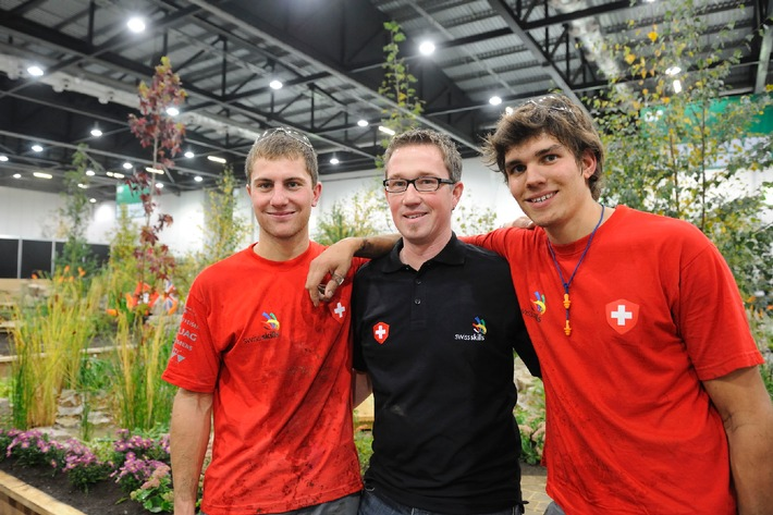 Schweizerische Landschaftsgärtner gewinnen erneut Gold an der Berufsweltmeisterschaft 2011 in London