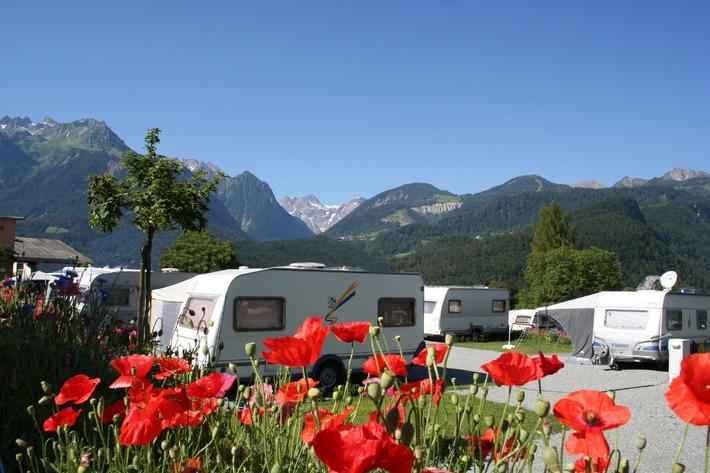 Camping in Vorarlberg 2012 mit neuen Angeboten - BILD