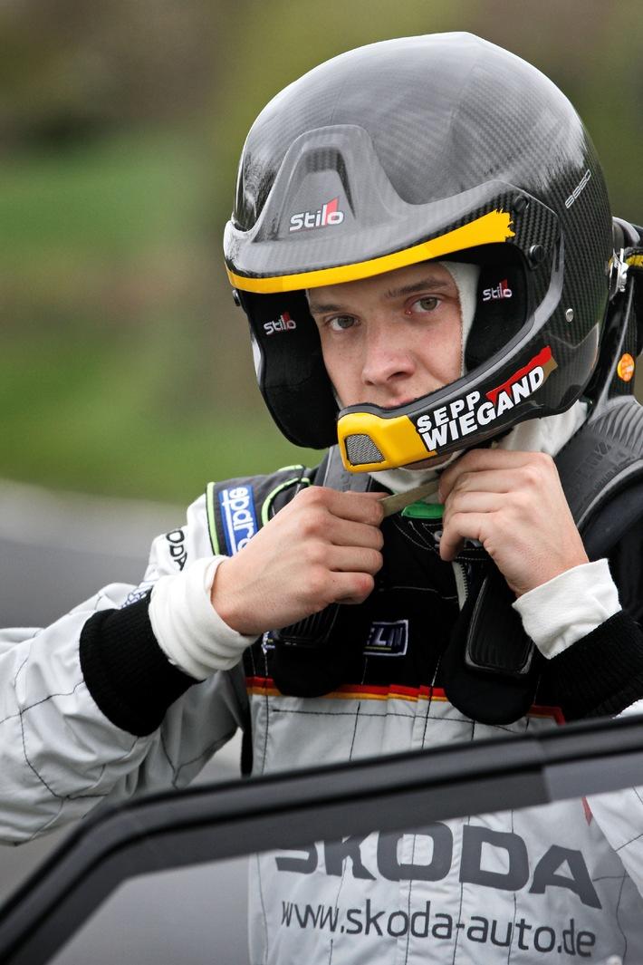 SKODA Junior Sepp Wiegand startet 2013 mit neuem Copilot in der WRC2 (BILD)