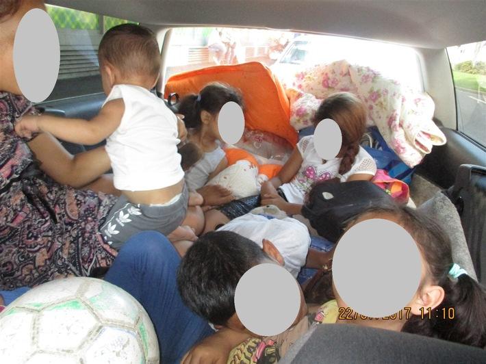 POL-HA: Mit sieben Kindern im Kofferraum unterwegs