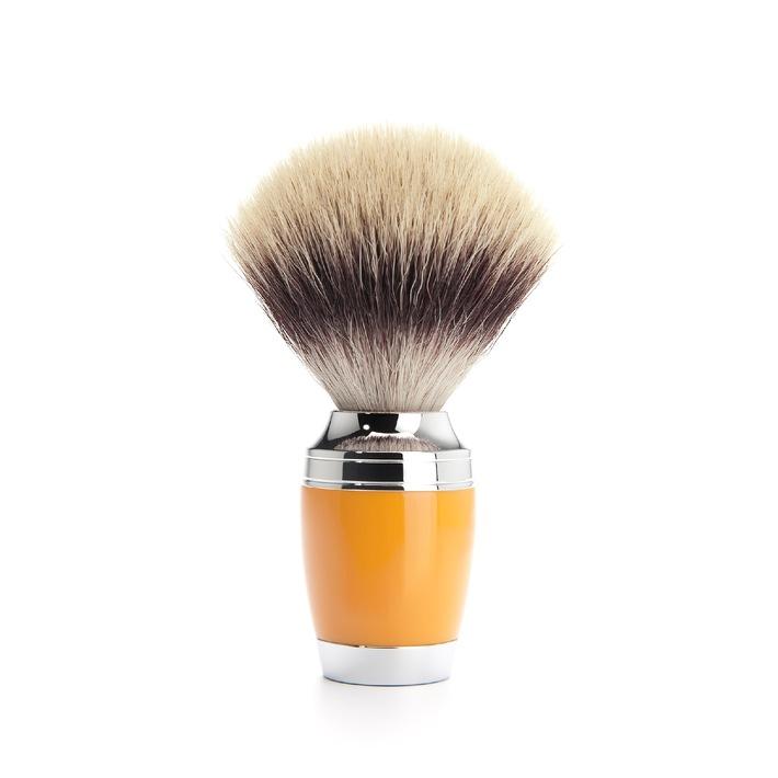 Kunst übertrifft Natur, wir evolutionieren die Nassrasur: Silvertip Fibres© veredeln Pinsel der Marke MÜHLE