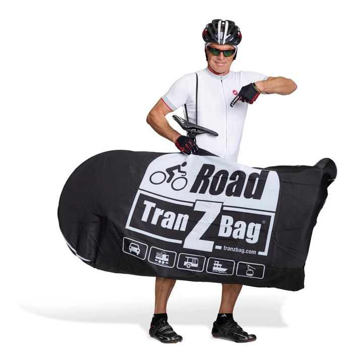 Weltrekord aus der Schweiz / Faltbare Velo-Transporttasche TranZbag ROAD passt in Velo-Jersey