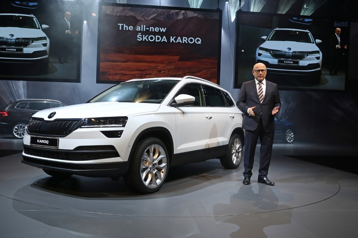 Eine Million User verfolgen SKODA KAROQ Weltpremiere