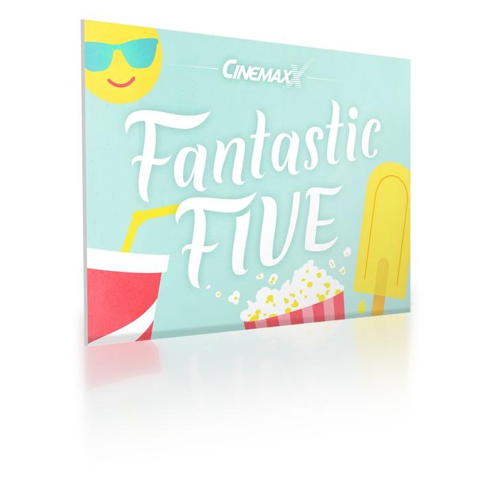 """CinemaxX präsentiert das """"Fantastic Five"""" Ticket für den Sommer: Fünfmal Kino - für unschlagbare 29,90 Euro"""