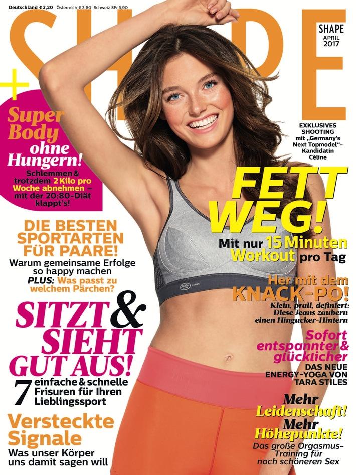 """Germany's next Topmodel""-Kandidatin Céline (18) gewinnt SHAPE Cover-Shooting und Box-Workout-Strecke"