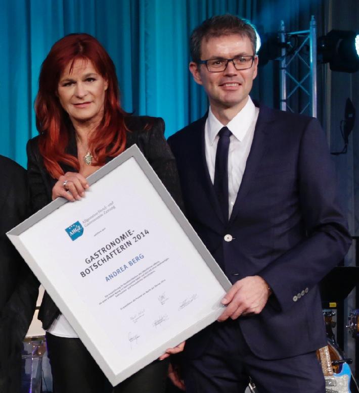 Schlagerstar Andrea Berg zur Gastronomie-Botschafterin ernannt